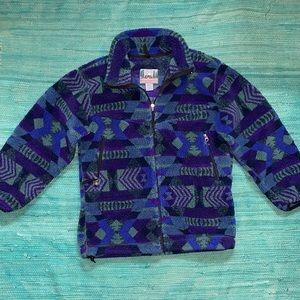 EMS Fleece Zip Up coat VINTAGE